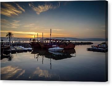 Sunrise Over The Sea Of Galilee Canvas Print