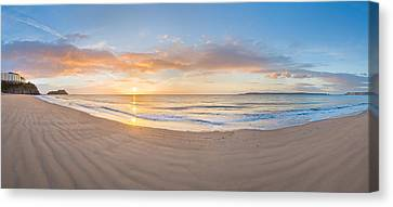 Sunrise Over The Sea, Tenby Canvas Print