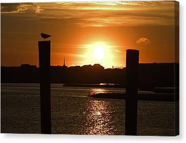 Sunrise Over Topsail Island Canvas Print by Mike McGlothlen