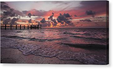 Sunrise Panoramic Canvas Print by Adam Romanowicz