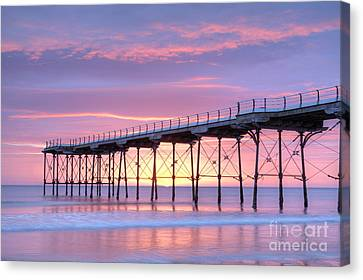 Sunrise Pier Canvas Print by Colin and Linda McKie
