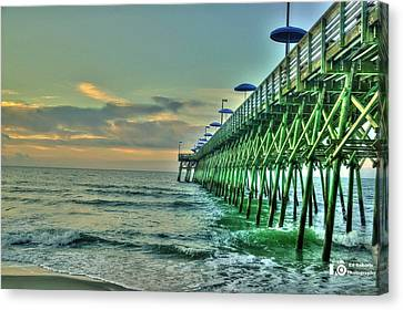 Sunrise Pier Canvas Print by Ed Roberts