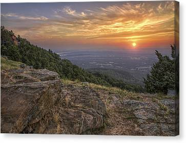 Canvas Print featuring the photograph Sunrise Point From Mt. Nebo - Arkansas by Jason Politte