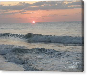 Canvas Print featuring the photograph Sunrise by Polly Anna