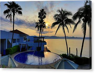 Sunrise, Punta Serena Villas And Spa Canvas Print by Douglas Peebles