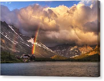 Sunrise Rainbow Canvas Print by Mark Kiver