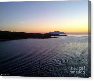 Canvas Print featuring the photograph Sunrise by Ramona Matei