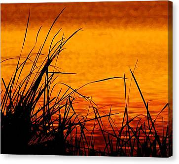 Canvas Print featuring the photograph Sunrise Reflected On The Pond by Bill Kesler