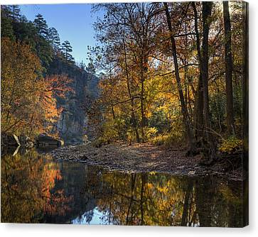 Sunrise Reflection Below Kyles Landing Canvas Print by Michael Dougherty