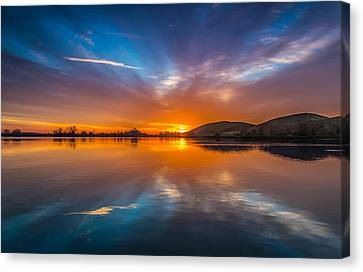 Sunrise Reflection Canvas Print by Marc Crumpler