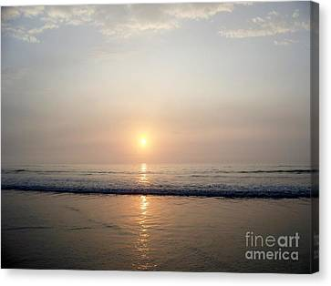 Sunrise Reflection Shines Upon The Atlantic Canvas Print