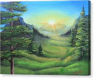 Sunrise Canvas Print by Remegio Onia