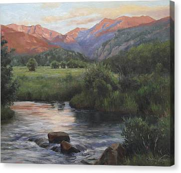 Sunrise Rocky Mountain National Park Canvas Print by Anna Rose Bain
