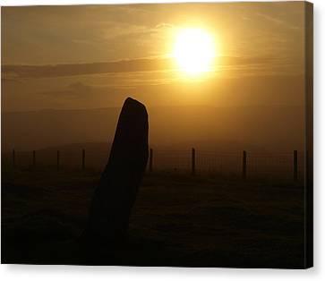 Sunrise Silhouette Scotland Canvas Print by Michaela Perryman