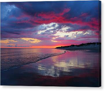 Canvas Print featuring the photograph Sunrise Sizzle by Dianne Cowen