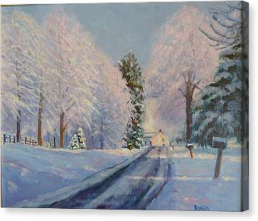 Sunrise Snow Canvas Print