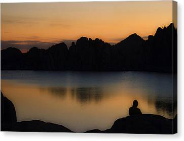 Sunrise Solitude Canvas Print by Dave Dilli