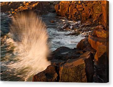 Sunrise Splash Canvas Print by Jonathan Steele