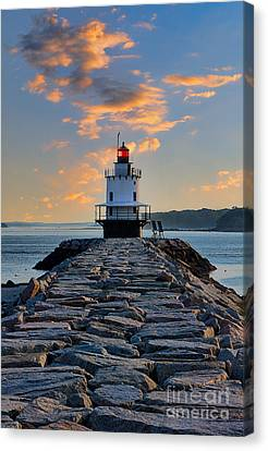 Sunrise Spring Point Ledge Canvas Print by Jerry Fornarotto