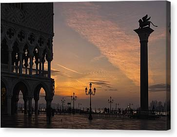 Sunrise St Mark's Square Canvas Print by Marion Galt