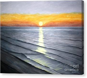 Canvas Print featuring the painting Sunrise by Stacy C Bottoms