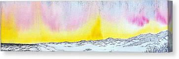 Sunrise-sunset Canvas Print
