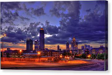 Scad Canvas Print - Sunrise Supreme Atlantic Station Midtown Atlanta  by Reid Callaway