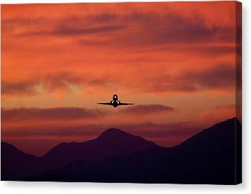 Sunrise Takeoff Canvas Print by John Daly
