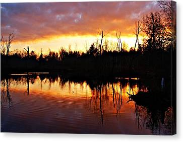 Sunrise Thanksgiving Morning Canvas Print