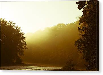 Canvas Print featuring the photograph Sunrise Thru The Fog by Phil Abrams