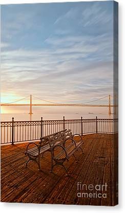 Canvas Print featuring the photograph Sunrise To The Bay by Jonathan Nguyen