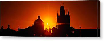 Sunrise Tower Charles Bridge Czech Canvas Print by Panoramic Images