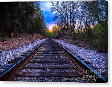Sunrise Tracks Canvas Print