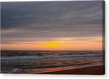 Sunrise Under The Clouds Canvas Print by John M Bailey