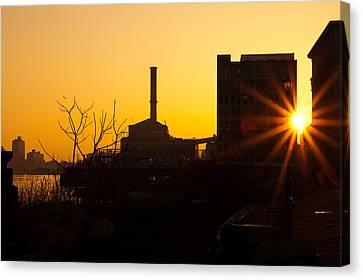 Sunrise Under The Manhattan Bridge Canvas Print