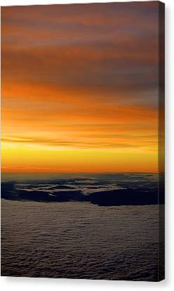 Sunrise View From Plane Canvas Print by Alex King