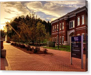 Sunrise Walk At Western Carolina University Canvas Print
