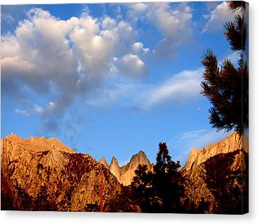 Sunrise Whitney Portal Canvas Print by Amelia Racca