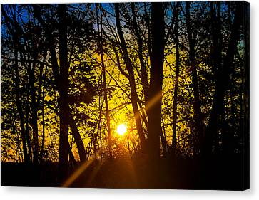 Sunrise With Blue - Horizontal Canvas Print