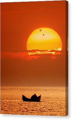 Sunrise With Venus On It Canvas Print by Alex Conu