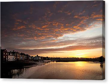 Canvas Print featuring the digital art Sunrise Wivenhoe by David Davies