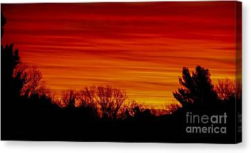 Sunrise Y-town Canvas Print by Angela J Wright