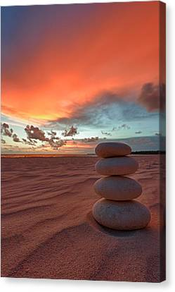 Sunrise Zen Canvas Print by Sebastian Musial