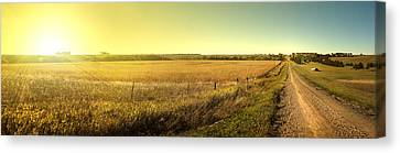 Sunriseroad Canvas Print by Patrick Ziegler