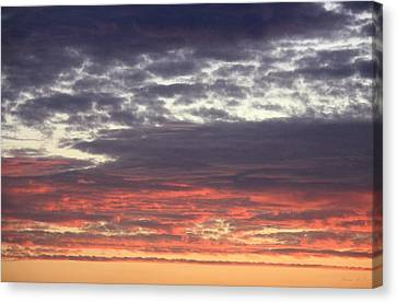 Canvas Print featuring the photograph Sun's Last Reflection by Amanda Holmes Tzafrir
