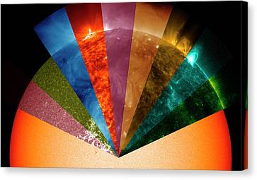 Sun's Surface At Different Wavelengths Canvas Print
