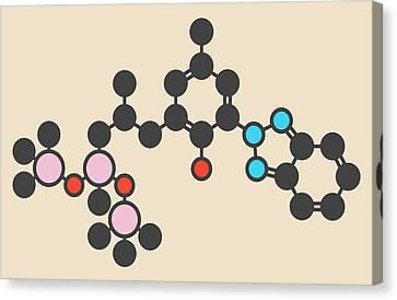 Sunscreen Molecule Canvas Print by Molekuul