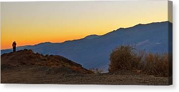 Canvas Print featuring the photograph Sunset - Death Valley by Dana Sohr