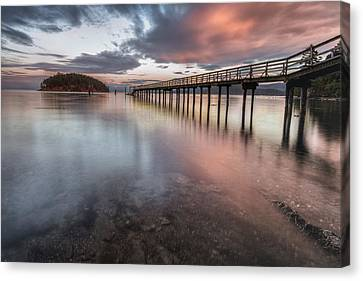 Sunset - Mayne Island Canvas Print