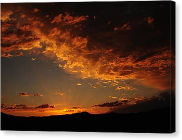 Canvas Print featuring the photograph Sunset 0983 by Janis Knight